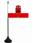 Gibraltar Desk / Table Flag with plastic stand and base.